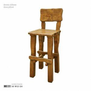Vysoká židle z olše