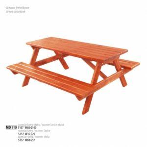 Zahradní lavice se stolem MO110 Tik