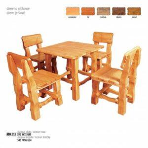 Čtvercový zahradní stůl s židlemi