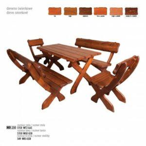Dřevěný zahradní set