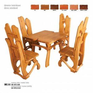 Čtvercový dřevěný set MO240 Tik