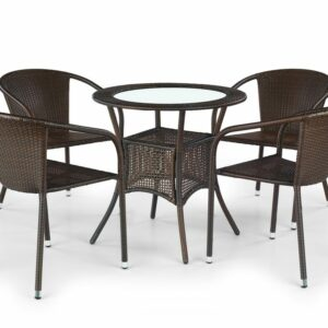 Halmar MIDAS table color: dark brown