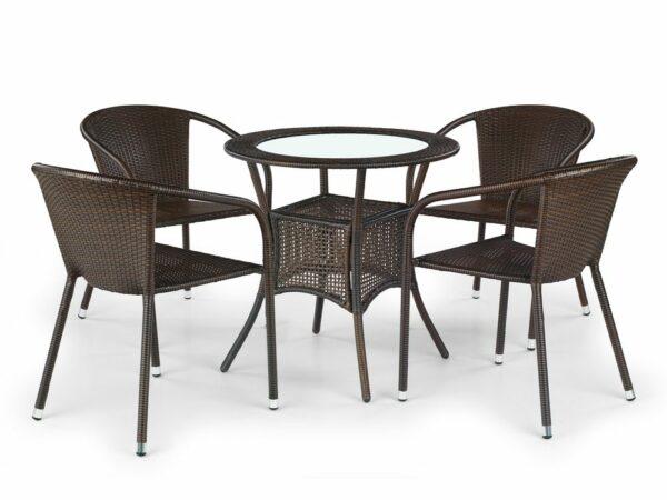 Halmar MIDAS table color: dark brown